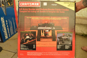 Craftsman Router 8.0 AMP Router and Deluxe Router Table