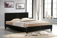 Espresso or White Leather Platform Bed! FREE Delivery!