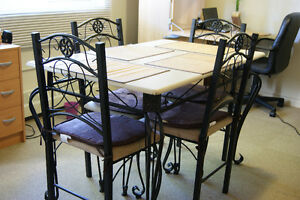 Sturdy Dining Table Set with 4 Chairs