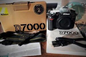 Nikon D7000 SLR camera plus accessories
