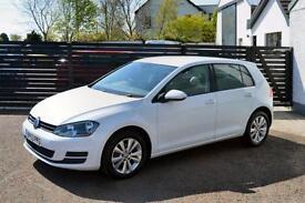 2014 VW GOLF MK7 1.6 TDI SE PURE WHITE FVSH FOCUS A3