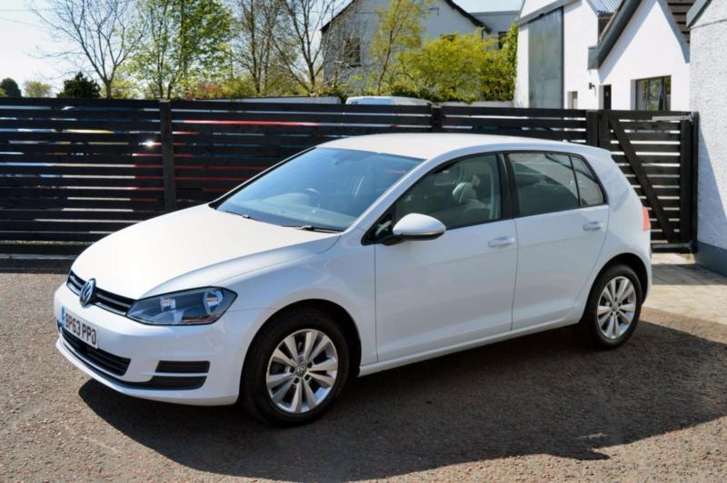 2014 vw golf mk7 1 6 tdi se pure white fvsh focus a3 in. Black Bedroom Furniture Sets. Home Design Ideas