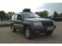 2000 W Reg JEEP GRAND CHEROKEE LIMITED 4.0 AUTOMATIC 4WD GREY BRONZE