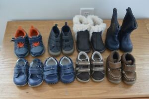 Boy Shoes + Boots:  Sizes 3,4,5