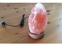 New Himalayan USB Salt Lamp LED Lights Natural Crafts Yellow Light