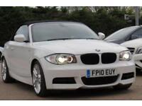 BMW 1 SERIES 3.0 135I M SPORT 2D 302 BHP 2010 10 WHITE CONVERTIBLE