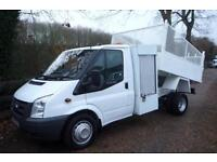 FORD TRANSIT 350 140BHP CAGE SIDED TIPPER WITH TOOL BOX 58 REG