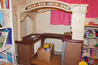 LITTLE TIKES KITCHEN COMES WITH BOX OF FOOD/DISHES- several sets