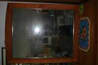 Brand New  Mirror,   Real wood frame,    wall or dresser