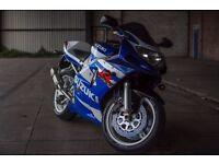 2001 SUZUKI GSXR600 k1 14k miles, lots of history inc original bill of sale