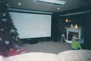 10ft gray projector screen