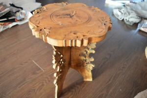 Indian Wooden Carved Table