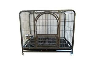 New Arrival 44''Mobile Metal Wire Big Dog Cage Folding Pet Crate Big Sell In Great Demand 212016
