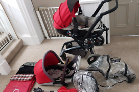 3 in 1 travel system, pram, pushchair and car seat