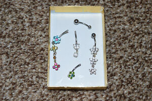 Lot of 5 Belly Button Rings