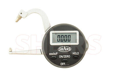 Shars 0-125mm Electronic Digital Thickness Gage Resolution .0005.01mm New