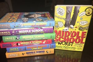 Middle School Book Series by James Patterson (Set of 7)