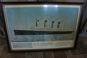 Antique Titanic Framed Print