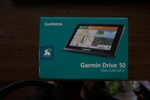 GARMIN GPS DRIVE 50LM, 5' SCREEN, LIFETIME MAP, BRAND NEW.