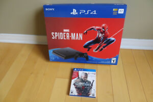 PS4 Spiderman bundle Neuf + Witcher 3