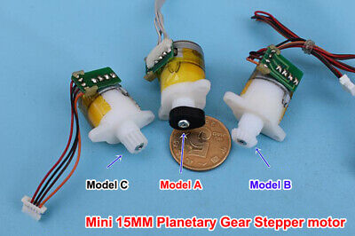 Micro Mini 15mm 2-phase 4-wire Precision Planetary Gearbox Gear Stepper Motor