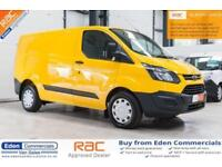 2014 14 FORD TRANSIT CUSTOM 2.2 330 LR P/V 124 BHP DIESEL YELLOW PANEL VAN