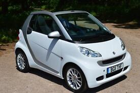 2011 SMART FORTWO CABRIOLET Passion 2dr Softouch Auto ONLY 18,000 MILES