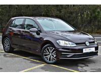 2017 Volkswagen Golf SE Nav 1.4 TSI 125PS 6-speed Manual 5 Door Petrol black Man