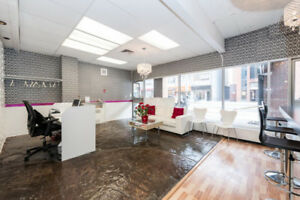 Turnkey business in Downtown Ottawa - Hair Salon and Spa with Ba