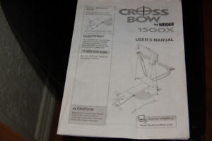 CROSS BOW by Weider -ALL IN ONE GYM $75.00