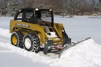Skid steer operator for the winter season