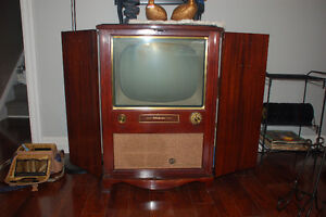 1950's TV in beautiful cabinet