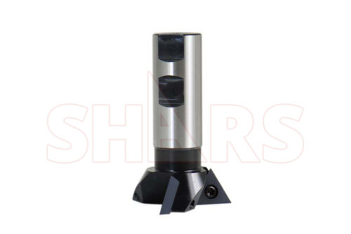 """SHARS 2-1/4"""" Diameter Cutter Indexable 60 Degree Dovetail Mill Cutting NEW"""
