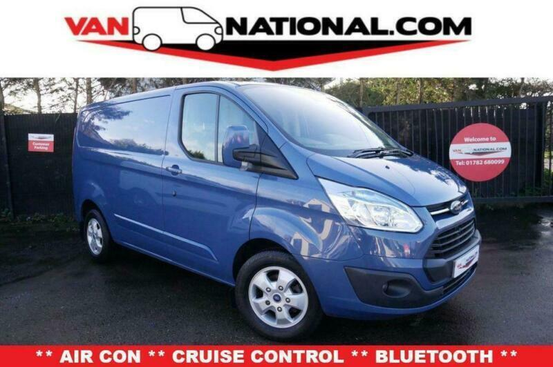 bead95aa6d BLUE FORD TRANSIT CUSTOM 2.2 270 LIMITED LR P V 125 BHP (ONE OWNER AIR CON  HE