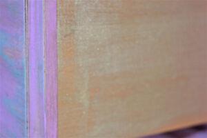 Magnifique table de chevet mauve-turquoise thématique licorne