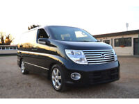 FRESH IMPORT LATE 2004 FACE LIFT NISSAN ELGRAND HIGHWAY STAR V6 AUTOMATIC BLACK