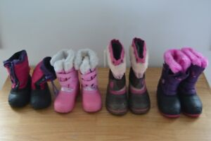 Girl Winter Boots:  Sizes 5,6,7,8