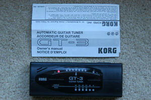 Electric or Bass Guitar Tuner Korg GT 3