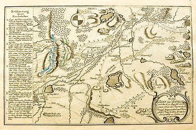 c1760 Liegnitz Legnica Schlesien Siebenjähriger Krieg Kupferstich-Plan