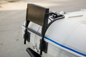 Motor bracket, outboard mount for inflatable boat