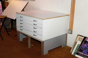 5-Drawer Architectural / Art Cabinet