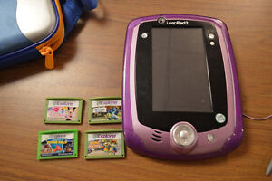 Leappad 2 with 4 games, bag and recharge kit