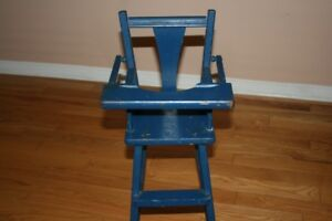 Vintage/antique wooden doll high chair