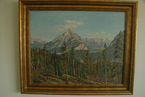 Canadian Rockies Landscape painting in oil