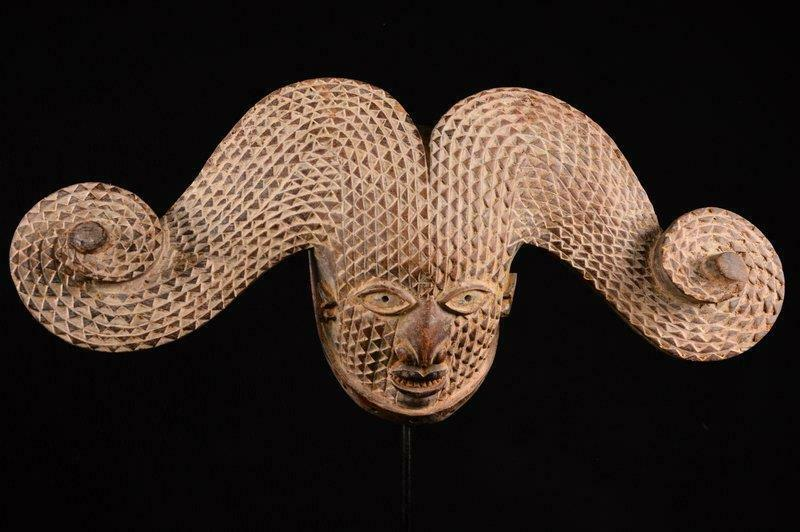 17016 African Old Igbo Helmet Mask/Helmet Mask Nigeria