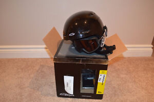 Smith Helmet with goggles