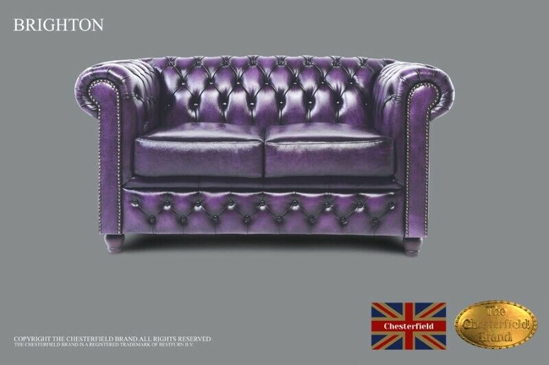 Chesterfield Sofa -The Chesterfield Brand Authentic -2 seats -Wash off purple -HANDMADE