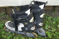 Barely used inline blades - Adult