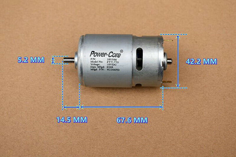 RS-775 DC18V 24V High Speed Power Large Torque Garden Tools Electric Drill Motor