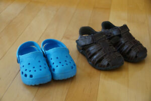 Two Pairs of Sandals, Both for $2